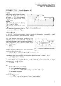W.3.1 Moto di filtrazione 2D(risolto) - Esercizi di Geotecnica