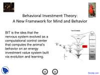 Behavioral Investment Theory - Tree of Knowledge System - Lecture Slides