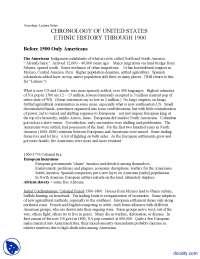 Indigenous Inhabitants - Ethnic Movements - Lecture Handouts