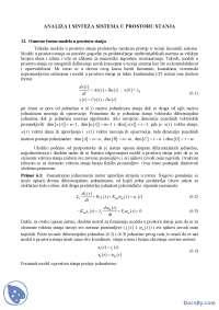 ANALIZA I SINTEZA SISTEMA U PROSTORU STANJA-Skripta-Sistem automatskog upravljanja-Energetika