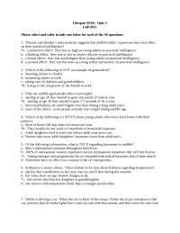 Psych B310 Quiz 5