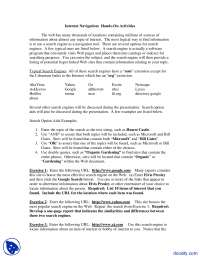 Internet Navigation - Electrical Learning - Lecture Notes
