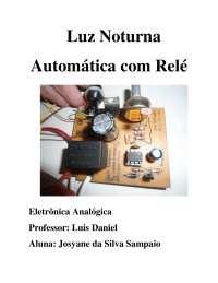Luz noturna automática com relé, Manuais, Projetos, Pesquisas de Engenharia de Manutenção
