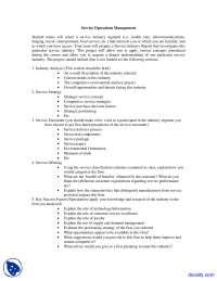 Service Management - Operation Management - Assignment