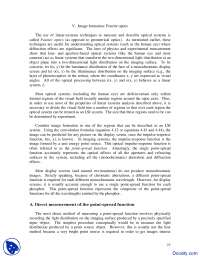 Fourier Optics - Vision Systems - Lecture Notes