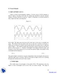 Light and light sources - Vision Systems - Lecture Notes