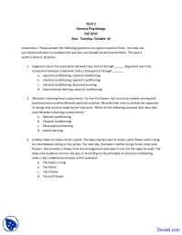 Operant Conditioning - Basic Psychology - Quiz