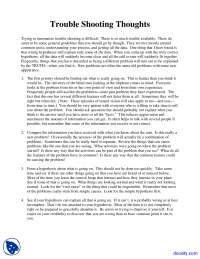 Trouble Shooting Thoughts - English - Lecture Notes