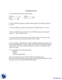 Metric Measurements - Techniques in Molecular Biology - Quiz