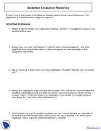 Deductive and Inductive Reasoning - Introduction to Research Methods - Assingment