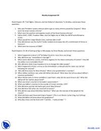 Civil Rights - History of United States - Assignment