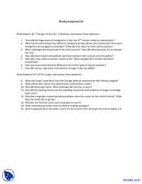 Age of the City - History of United States - Assignment