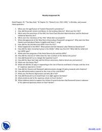 New Deal - History of United States - Assignment