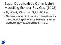 Gender Pay Gap - Gender Inequality - Lecture Slides