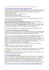 La PESC e la cooperazione di polizia e giudiziaria in materia penale
