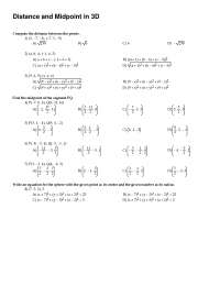 Distance and Midpoints - Calculus - Exercise