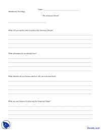 American Dream - Introductory Sociology - Quiz