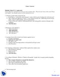 Male Centeredness - Introduction to Women Studies - Exam