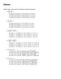 Ellipses - Calculus - Exercise