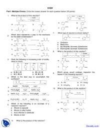 Aldol Condensation - Introduction to Organic Chemistry - Quiz
