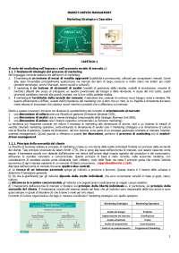 Appunti di Marketing Strategico e Operativo (Market - Driven Management - Lambin)