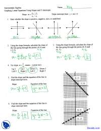Graphing using Slopes - Intermediate Algebra - Solved Assignment