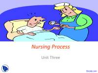 Nursing Process - Pediatric Nursing - Lecture Slides