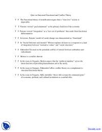 Structural Functional and Conflict Theory - Principles of Sociology - Quiz