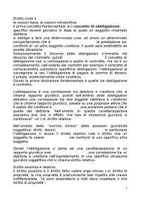Nozioni di diritto civile - Appunti - Diritto Civile II