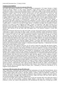 Scienza dell'amministrazione - Appunti - Procedimento Amministrativo