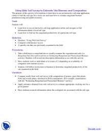 Biomass and Composition - Rangeland Principles - Exercise