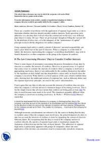 Article Summary - Corporations Law - Quiz