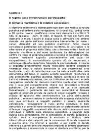 Il demanio marittimo e le relative concessioni - Appunti - Diritto della navigazione