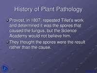History of Plant Pathology - Plant Pathology - Lecture Slides