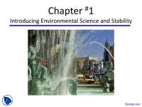 Environmental Science and Stability - Environmental Science - Lecture Slides