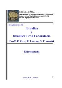 Esercitazioni Idraulica (2007-08)