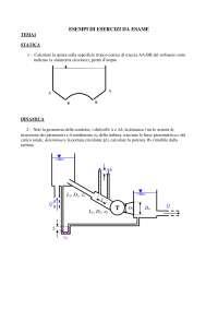 Meccanica dei fluidi - Esempi di temi d'esame