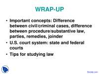 Criminal Cases - Civil Procedure - Lecture Slides