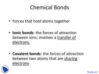 Chemical Bonds - Introductory Chemistry - Lecture Slides, Slides for Chemistry