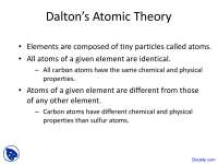 Dalton Atomic Theory - Introductory Chemistry - Lecture Slides