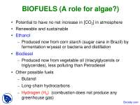Biofuels - Plant Molecular Biology - Lecture Slides