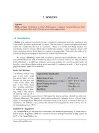 Boilers - Bureau of Energy Efficiency - Lecture Notes