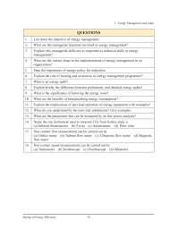 Energy Management and Audit - Bureau of Energy Efficiency - Quiz