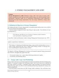 Energy Management and Audit - Bureau of Energy Efficiency - Lecture Notes