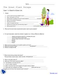 Great Plant Escape - Application of Biology - Assignment