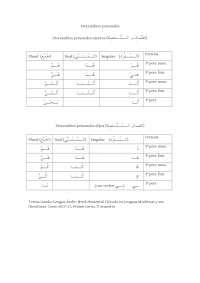 Arabe pronombres personales.