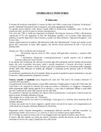Storia dell'industria italiana - Appunti - Storia dell'industria
