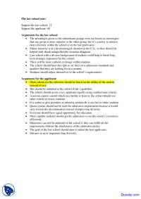 Law School Case - Sex Inequality - Exercise