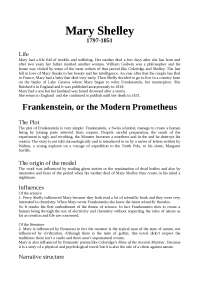 Frankenstein or Modern Prometheus