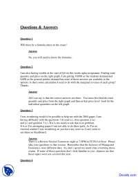 Formula Sheet - Managerial Economics - Questions